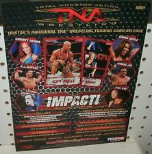 TNA WRESTLING  TRADING CARDS - PROMOTIONAL SELL SHEET  8 1/2 X 11