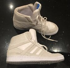 RETRO SIZE 6 ADIDAS ORIGINALS A.039 ANKLE BOOT TRAINERS WHITE UNISEX REAL SUEDE