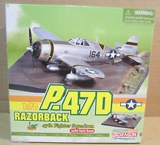 Dragon P-47D Razorback 47th Fighter Squadron With Airfield Base/Diorama 1:72 NEW