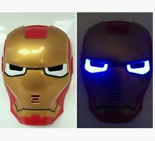 Halloween Costume Marvel Super Hero Iron Man Mask LED Lights