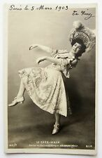 RPPC Paris 1903 WOMAN Dances Cake Walk Photo Postcard Sequined Skirt