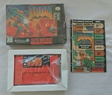 Used SNES Doom for Super Nintendo with Manual and BOX!