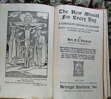 Lasance 1937 THE NEW MISSAL FOR EVERY DAY Tridentine Ancient Rite Latin good+