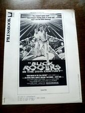 VINTAGE BUCK ROGERS FILM ORIGINAL 14 PAGE PRESSBOOK 1979 PRESS BOOK NO CUT OUTS