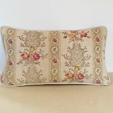 """NEW Kate Forman Oyster Christobel Fabric 20""""x12"""" Piped or Pom Pom Cushion Cover"""