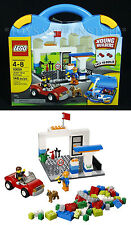 New - LEGO BLUE SUITCASE 10659 Gas Station YOUNG BUILDERS Race Car EASY TO BUILD