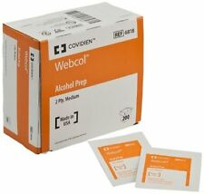 LOT OF 6 = 1200 PADS -Kendall Webcol Alcohol Prep Pad, 200 Count Box, # 6818