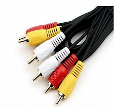 AV CABLE 3RCA 3 RCA Male AUDIO VIDEO Cord Composite Yellow/Red/White TV DVD bx
