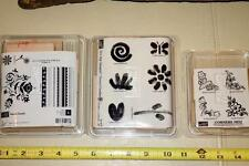 Lot of 3 Stampin' Up! Corners Mini/Razzle Dazzle/Painted Garden Wood Unmounted