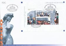 Finland 2000 FDC Sheet - Helsinki Culture Town 450 Years - Havis Amanda - Jan 12
