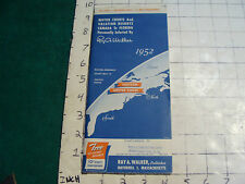 vintage  travel MAP: 1952 Eastern United States RAY A WALKER