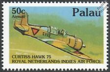WWII Royal Netherlands Air Force CURTISS HAWK 75 Aircraft Stamp (1992 PALAU)