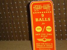 Skee Ball Instruction Decal (Sticker) Skeeball  * NEW *