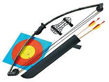 Jugend Compound Bogen Set + Pfeile Köcher Armschutz NEU