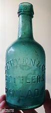 c. 1860s PHILADELPHIA, PA, S. ERVEN BROWN STOUT BEER BOTTLE, RARE