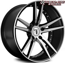 "VELOCITY VW20 BLACK MACHINED 22""X9 CUSTOM WHEELS RIMS (set of 4) FREE US SHIP"