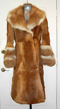 Rare SWITZERS REAL NATURAL FUR LUXURY LONG COAT FULLY LINED VTG Winter Jacket