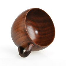 Jujube Wooden Wood Retro Restaurant Home Coffee Tea Cups Mugs Bellied Handmade