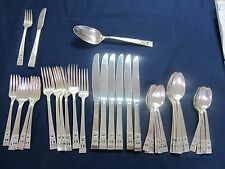 COMMUNITY CORONATION SILVERPLATE FLATWARE GREAT 39 PCE SVCE 6 + YOUTH KNIFE FORK