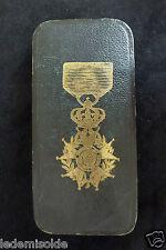Ordre de la Légion Honneur écrin  ouzille Lemoine  Chevalier  Napoléon III