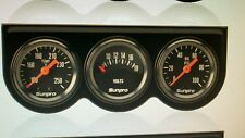MINI Sunpro Triple Gauge Set Black Face/Black Panel