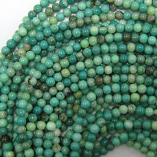 "4mm green chrysoprase round beads 16"" strand S2"