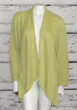 EILEEN FISHER~$180.00~LINEN & COTTON *ASYMMETRICAL-POCKETS-KNIT OPEN CARDIGAN* L