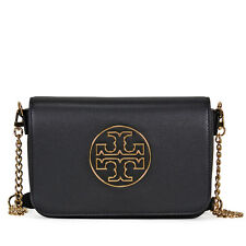 Tory Burch Isabella Leather Clutch - Black