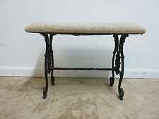 Antique victorian cast iron fireside Window bench ottoman stool Vanity Seat