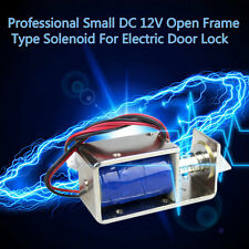 Professional Small DC 12V Open Frame Type Solenoid For Electric Door Lock BY