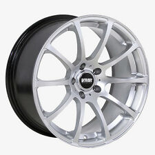 18x9.5 VMR Rims V701 CUSTOM ET45 Hyper Silver Wheels (Set of 4)