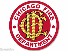 "CFD CHICAGO FIRE DEPARTMENT 4"" HELMET STICKER DECAL MADE IN USA"