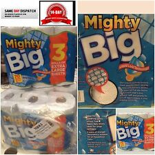 MIGHTY BIG 3 Ply Kitchen Towel Rolls 12 Rolls CHEAPEST OFFER bulk buy