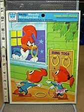 WOODY WOODPECKER frame puzzle Ring Toss cartoon 1980 Walter Lantz