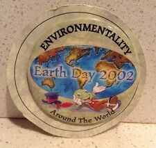 Disney's Jiminy Cricket Earth Day 2002 Pin Button - Cast Member Exclusive New