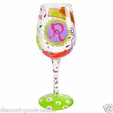 """LOLITA LETTER """"R"""" WINE GLASS -  GREAT BIRTHDAY OR CHRISTMAS PRESENT"""