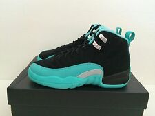 Youth's Nike Air Jordan 12 Retro GG Sz 6Y GS Hyper Jade Gamma Blue 510815-017