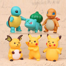 6Pcs/Lot Pokemon Collections Action Figures Kids Doll Animal Toy 2.75 inches  C4