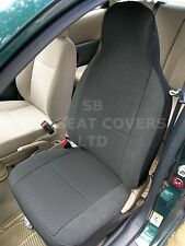 TO FIT A KIA SEDONA (7 SEATER), CAR SEAT COVERS, RAVEN ANTHRACITE CLOTH,2 FRONTS