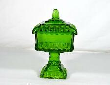 Vintage Westmoreland Wedding Bowl - Green Stained Glass