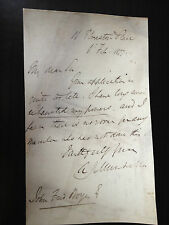 A.J. MUDELLA - LIBERAL POLITICIAN AND REFORMER - ONE PAGE SIGNED LETTER 1877