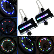 2x 14LED Motorcycle Cycling Bicycle Bike Wheel Signal Tire Spoke Light 30 Change