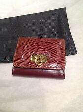 Salvatore Ferragamo leather coin purse vintage