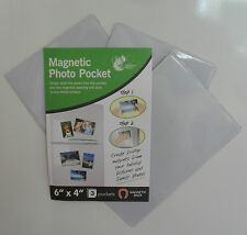"Magnetic Photo POCKET Foto Fotografia titolare, 6 ""X4"". Pack 3, CALAMITE PER FRIGO"