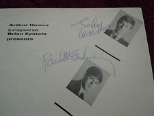 John Lennon Paul McCartney The Beatles Authentic Autographs 12/01/63 Program