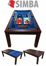 7 Ft Pool Table Billiard with coverage plan incl. Indoor Sports Mod. Blue Sky