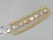 Macy's I.N.C. International Concepts Gold Natural Champagne Multi Chain Bracelet