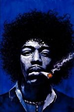 JIMI HENDRIX RETRO MUSIC POSTER (LAMINATED) 61x91cm Art Print Joint NEW LICENSED
