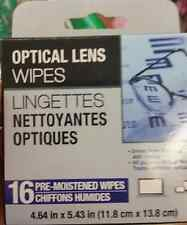 16 Pack Spectacle Eye glass glasses lens sunglasses cleaner wipes optical
