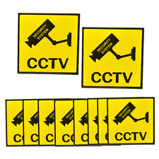10 pcs Home CCTV Surveillance Security Camera Sticker Warning Decal Alarm Signs